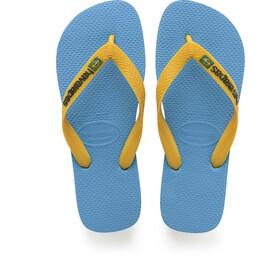 havaianas Brasil Logo Sandaler, turquoise/citrus yellow